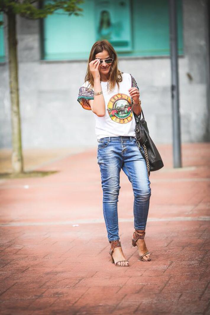 Guns And Roses , Es Cuestión de Estilo , nona  Eibar ,Bimba&Lola , Streetstyle, Look , Blogger , Iván Pérez Fotógrafo, Isabel Marant, Sandalias , Bolso Etro  ,Lucía Díez