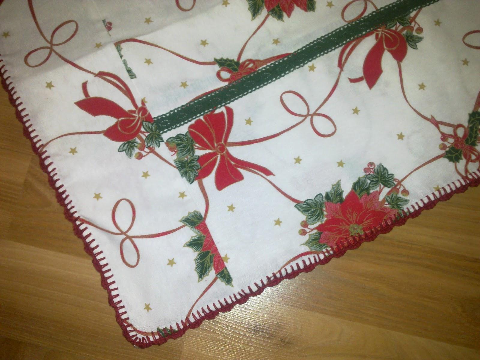 El mundo hecho con las manos manteles navide os - Manteles navidenos ...