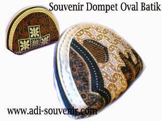 souvenir dompet oval batik