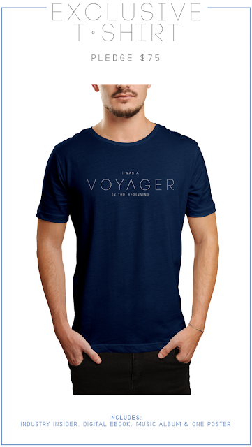 """Voyager"" T-shirt offered in the crowdfunding campaign. Credit: Voyager Films"