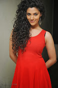 Saiyami Kher Hot in Red at Rey Trailer launch-thumbnail-14