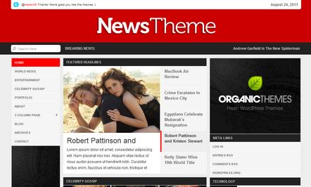 Organic News Theme - Template untuk Blog Berita