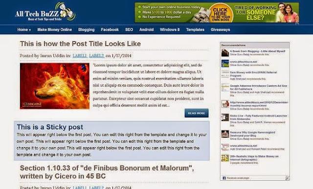ATB premium blogger template