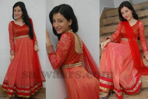 Priyanka Red Back Neck Salwar