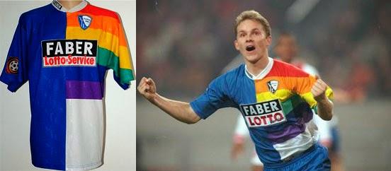 Las camisetas de fútbol más coloridas