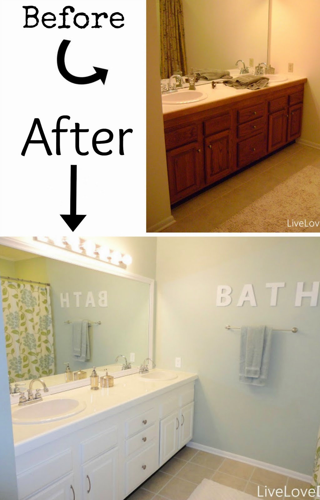 Painted Bathroom Cabinets Before And After pneumatic addict : 7 best diy bathroom vanity makeovers