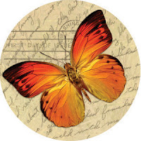 Butterfly image for glass photo pendants or scrapbooking