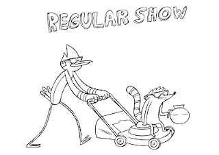 Regular Show coloring pages Mordecai and Rigby
