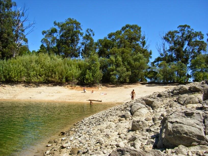 Zona balnear na Praia Fluvial