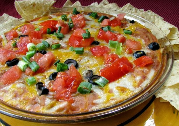 taco dip, Superbowl recipes, vegetarian, recipes, recipe blog