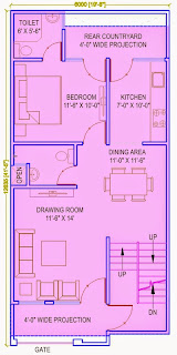 Up Country, Yamuna Expressway :: Floor Plans,Villa  810 Sq. Ft. (90 Sq. Yds.): Total Buildup Area by us-2795 Sq.ft:-Ground Floor Plan