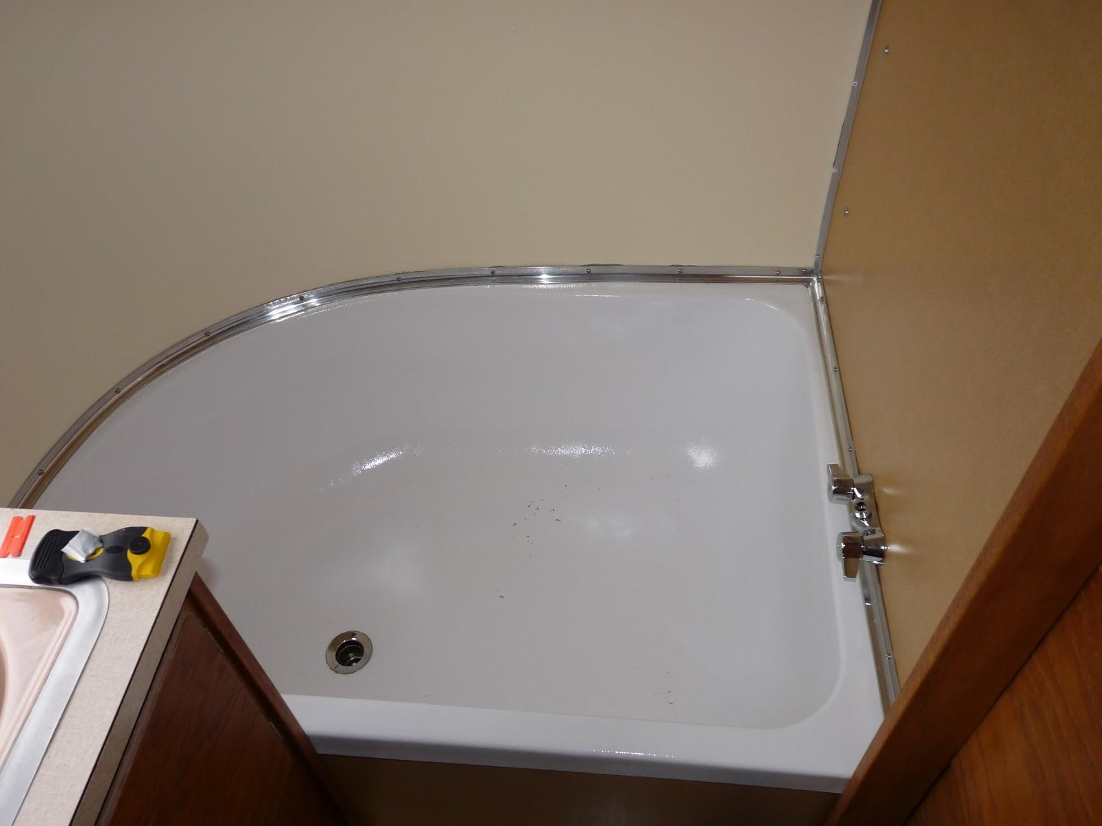 Replacing Bathroom Floor Trim : The midllife crisis airstream restoration bathtub