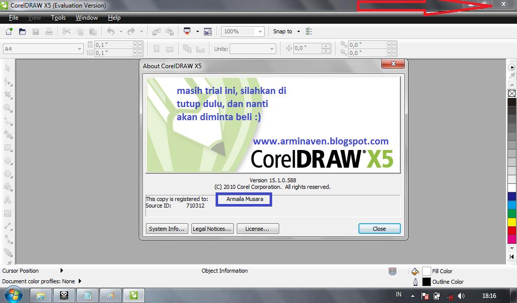 Cara install coreldraw x5 dengan keygen.