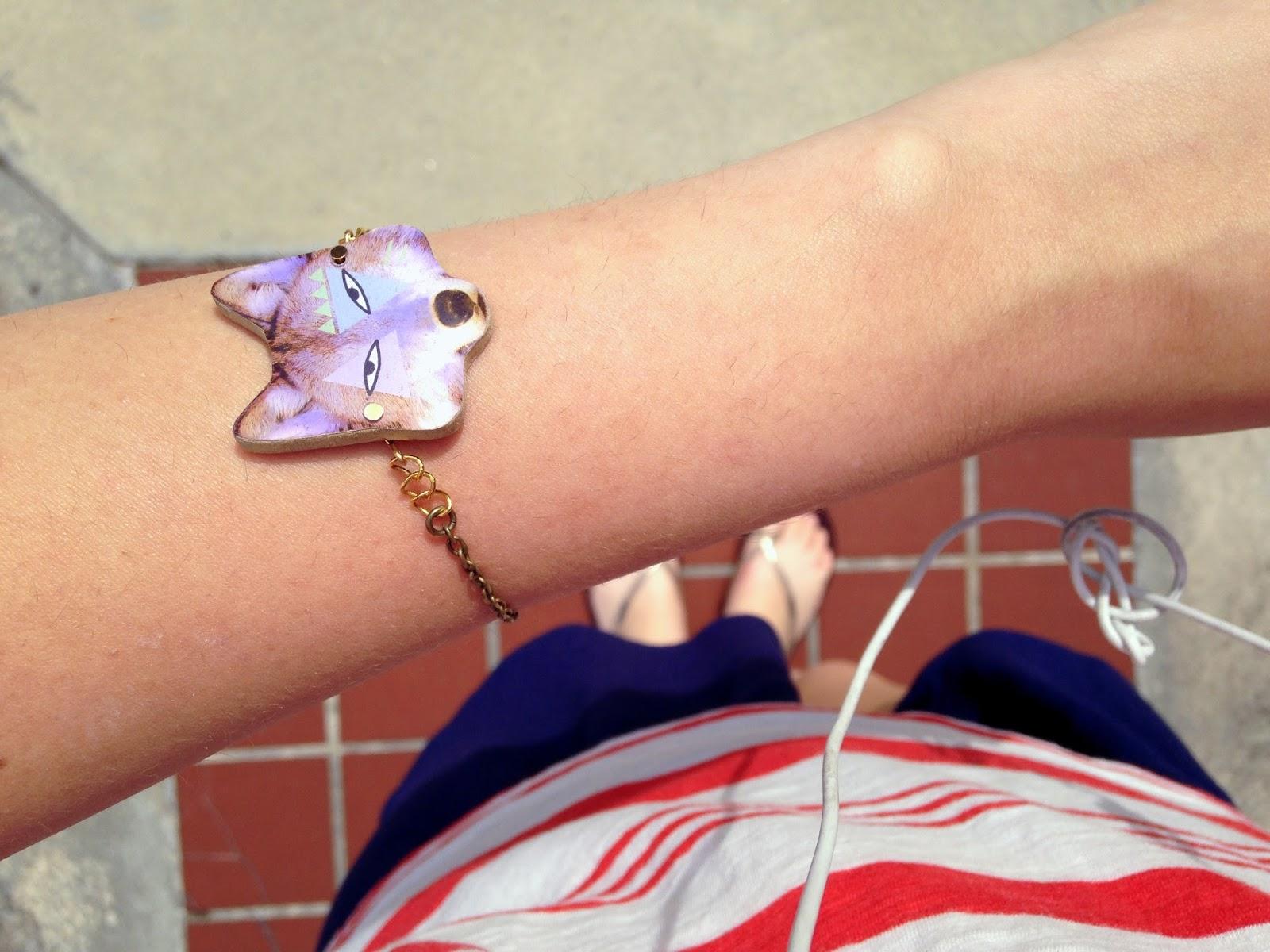 hottt dot com wolf bracelet, styling, tumblr, jewelry