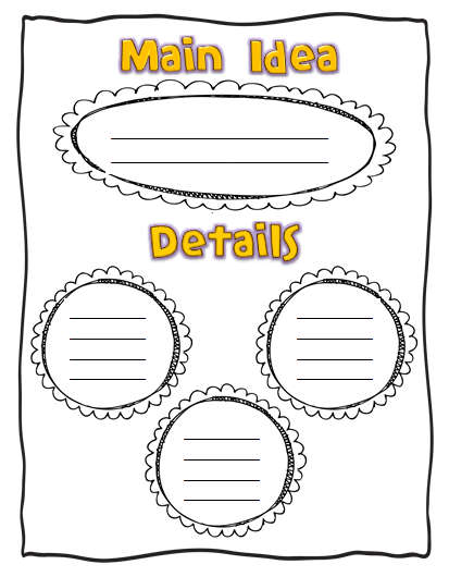 Wild image within main idea graphic organizer printable