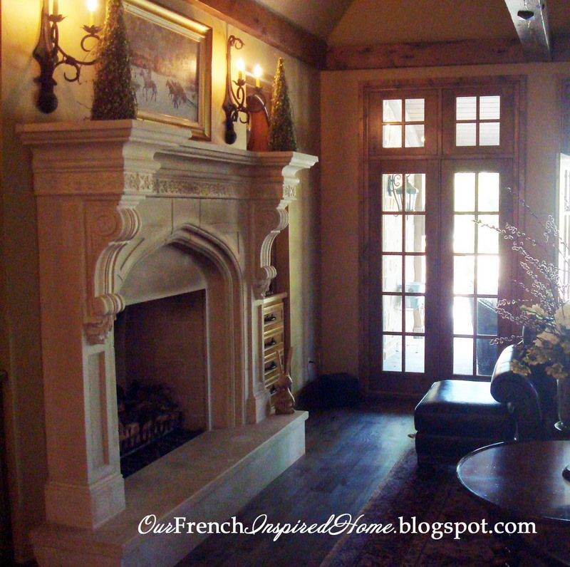 Our french inspired home french style fireplaces and for French country stone fireplace