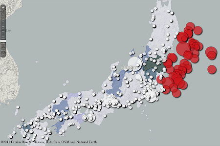 Mapa Terremotos Japon