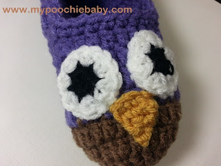 poochie baby crochet owl slippers