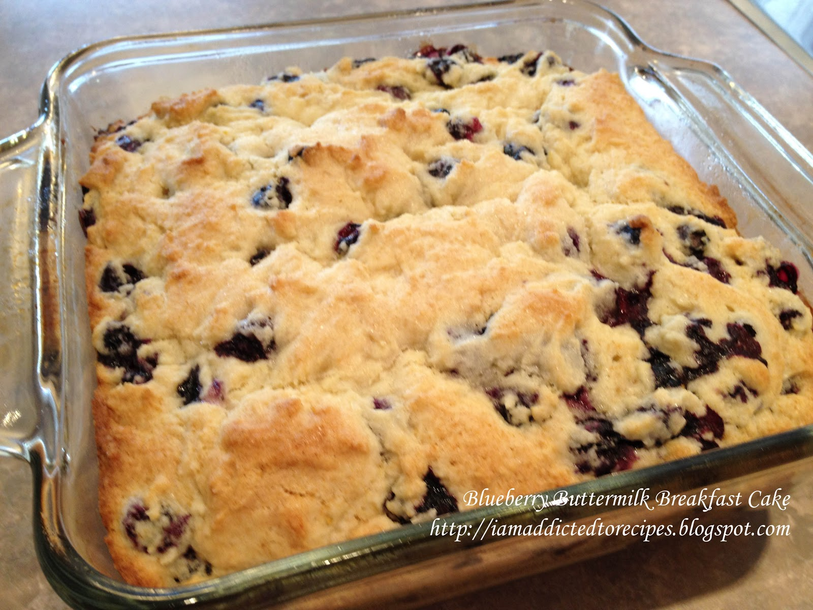 Blueberry Buttermilk Breakfast Cake | Addicted to Recipes