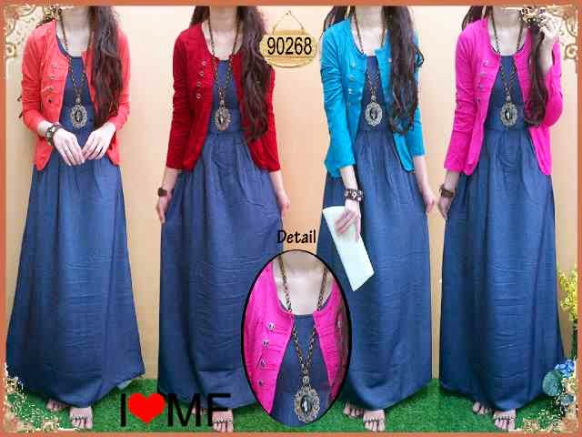 Delia Maxi Dress Denim