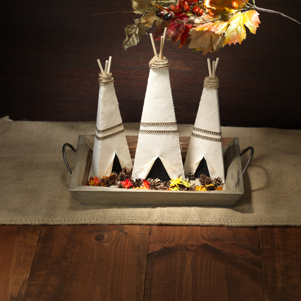 Paper Mache Tepee Cone @craftsavvy @sarahowens #craftwarehouse #papermache #cones #diy #fall