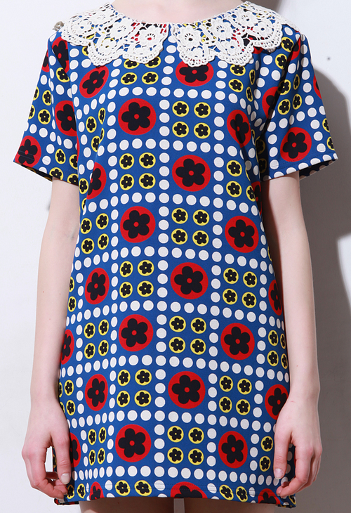 Lylisa Retro Daisy Print Dress