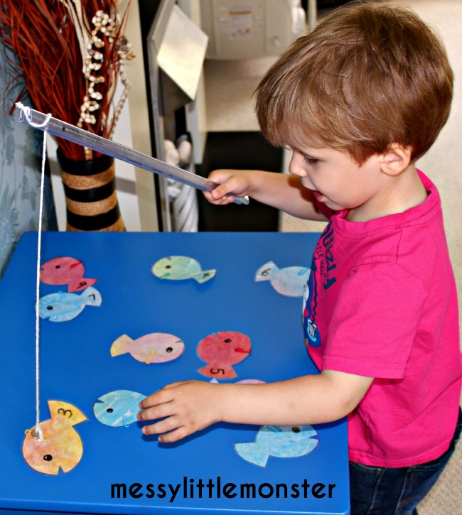 Magnetic Fishing Number Game Messy Little Monster