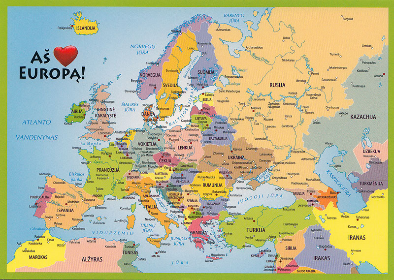 My POSTCROSSING collection EUROPE Map