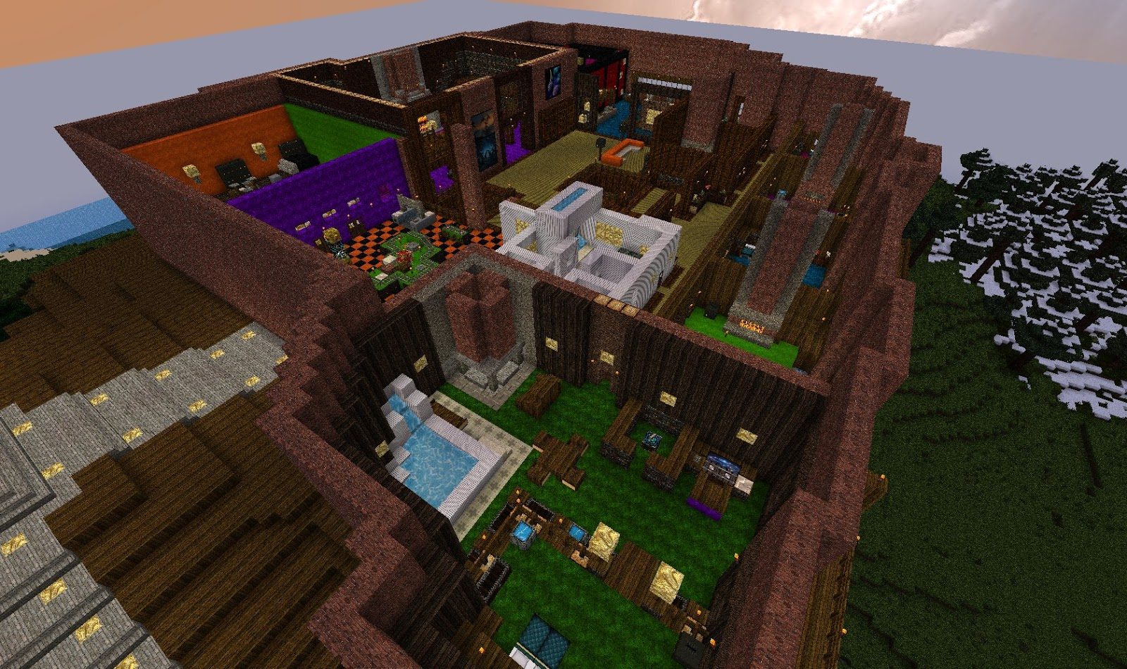 Jd 39 S Gaming Blog Minecraft Creations The Brick Mansion