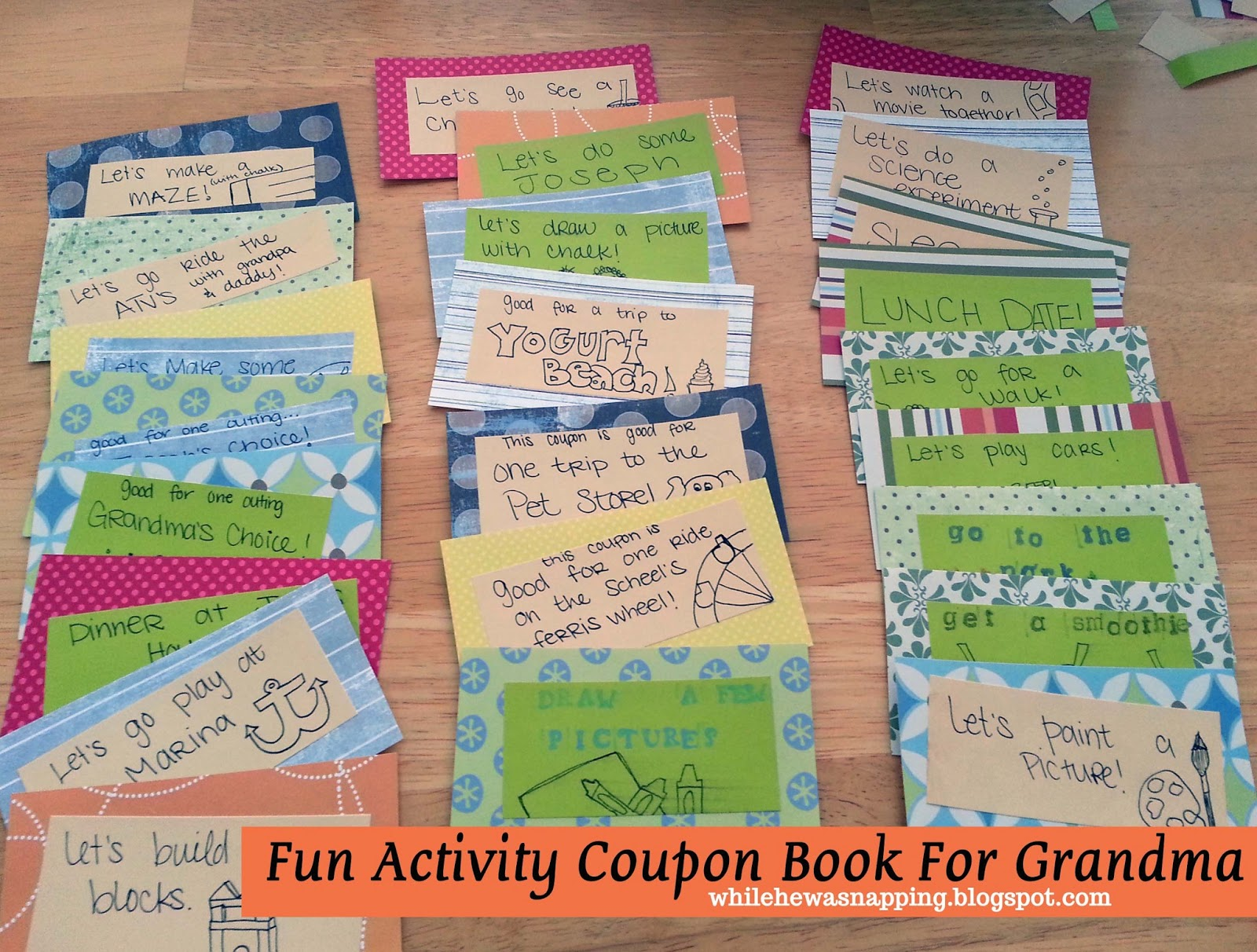 Ideas for coupon book for mom