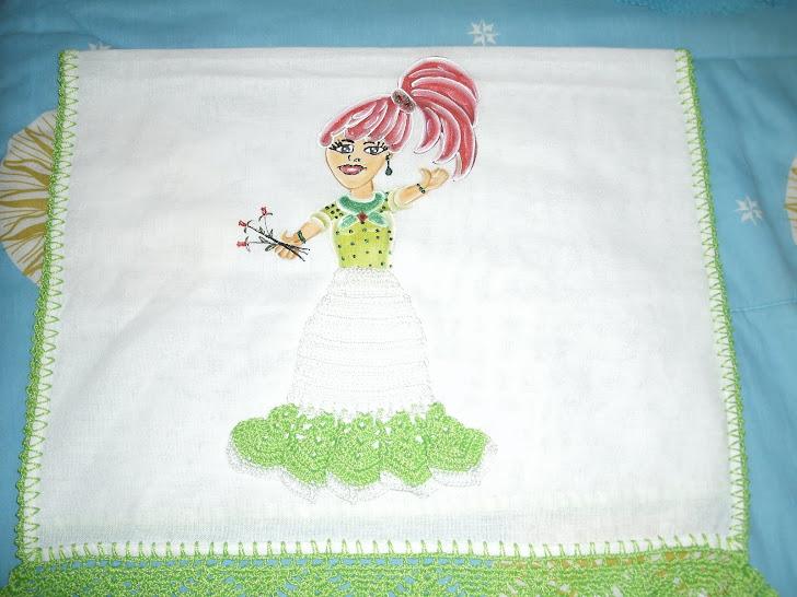 toalha de boneca