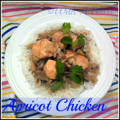 With A Blast: Apricot Chicken {saucy!}  #chicken