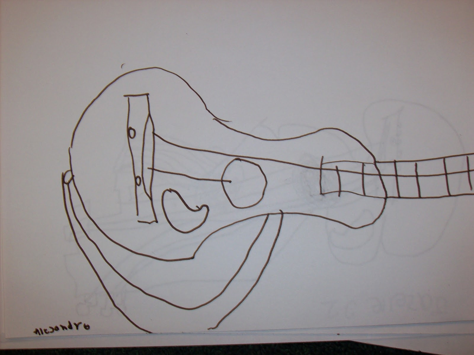 Contour Line Drawing Guitar : Picasso guitar sculptures stringbean art