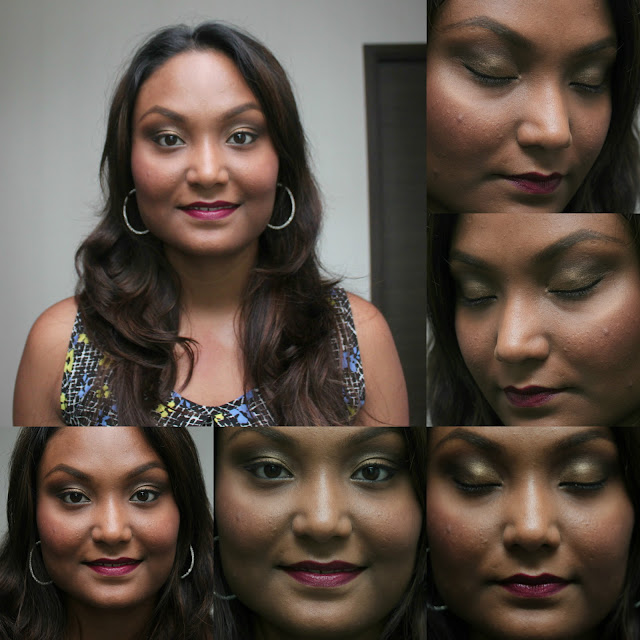 Face of The Day | Dull Gold Makeup Look