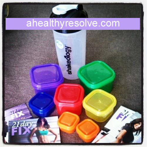 Specially designed portion control containers paired with 30 minute workouts = results!