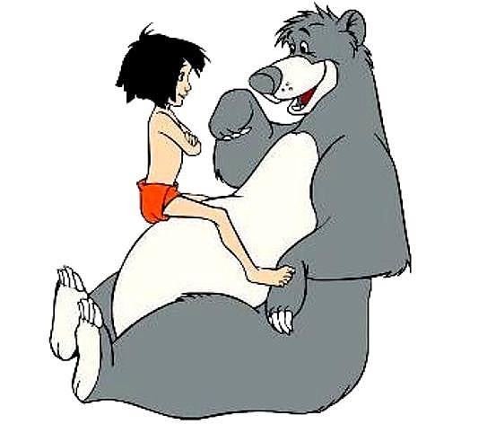 Mowgli and Baloo 1