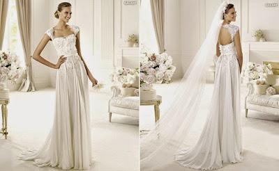 baju pengantin putih tanpa lengan