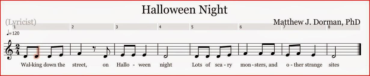 Voglio una mela blu halloween night spartito della for Semplice creatore di piano gratuito