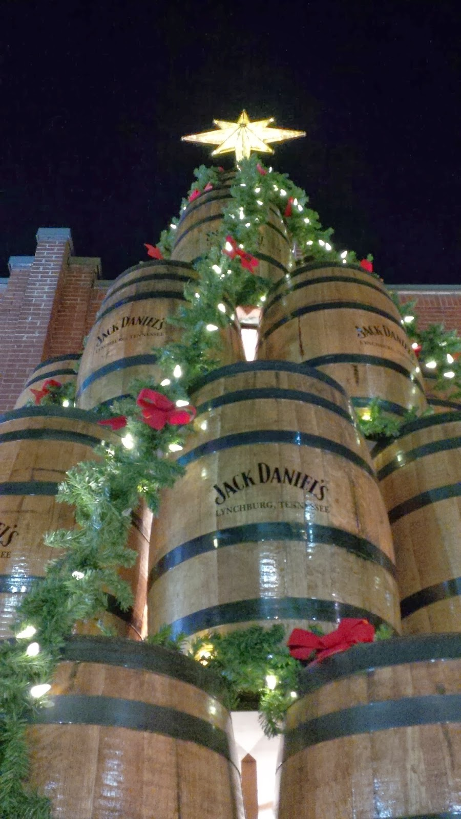 Jack daniel s barrel tree lighting ceremony real man travels