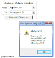 US airport distance calculator