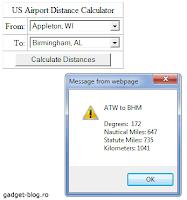 US airport distance calculator
