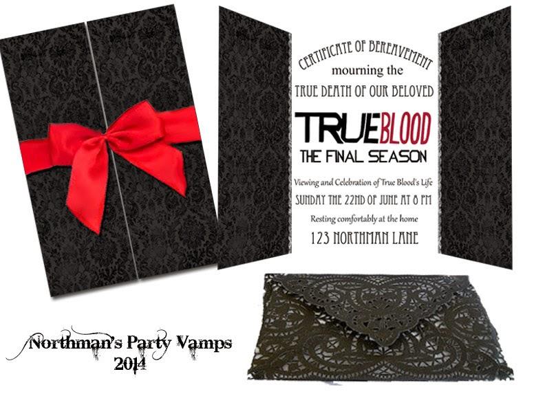 TRUE BLOOD FUNERAL INVITATIONS @norhmanspartyvamps.com