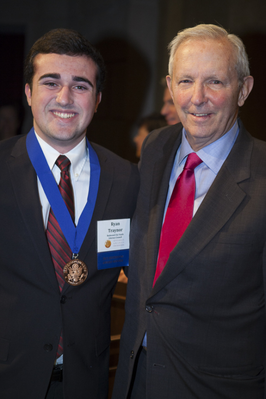 Congratulations to YLC President, Ryan Traynor for winning a Jefferson Award for Service
