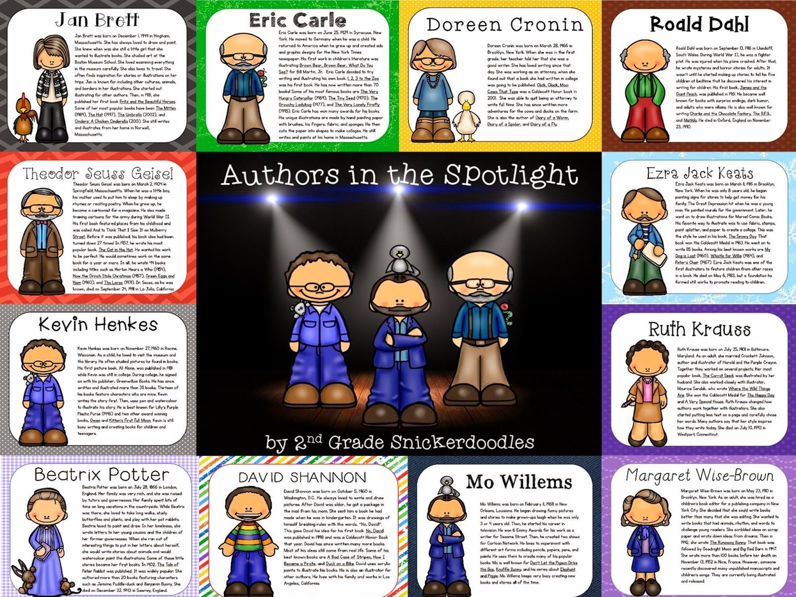 3rd Grade Author Studies - je012.k12.sd.us