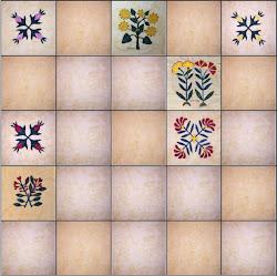 Botanical Quilt Progress