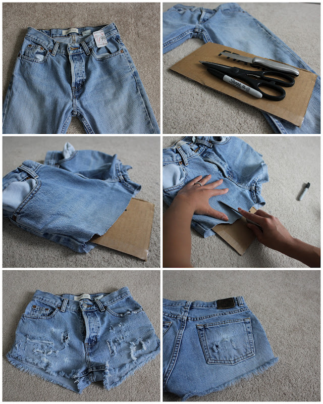 Here 39 s a quick and easy diy perfect for summer i mentioned for How to make a distressed shirt