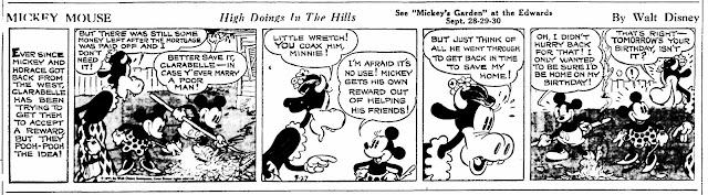 Mickey Mouse daily strip, September 27, 1935 - drawn by Floyd Gottfredson