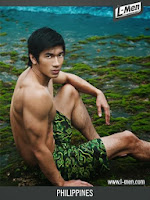 Gil Wagas of the Philippines, 4th runner up in Mister International 2013