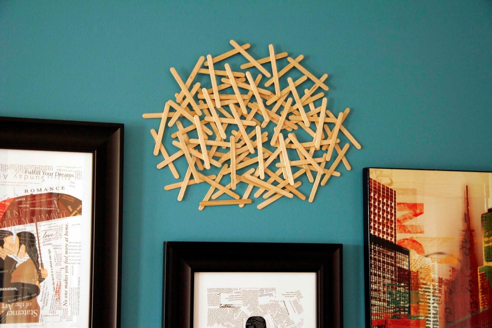 Decoración de casa con palillos de helado en Recicla Inventa