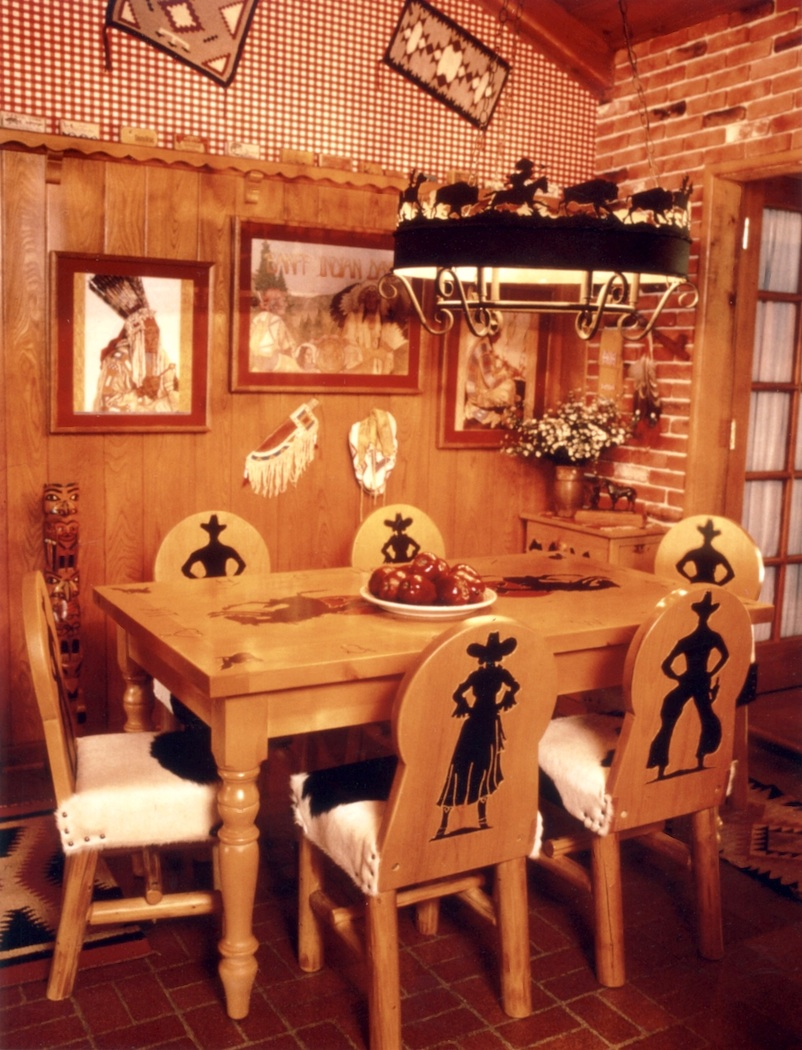 In This 1994 Photo Above Our Dining Room Was Spruced Up For A Los